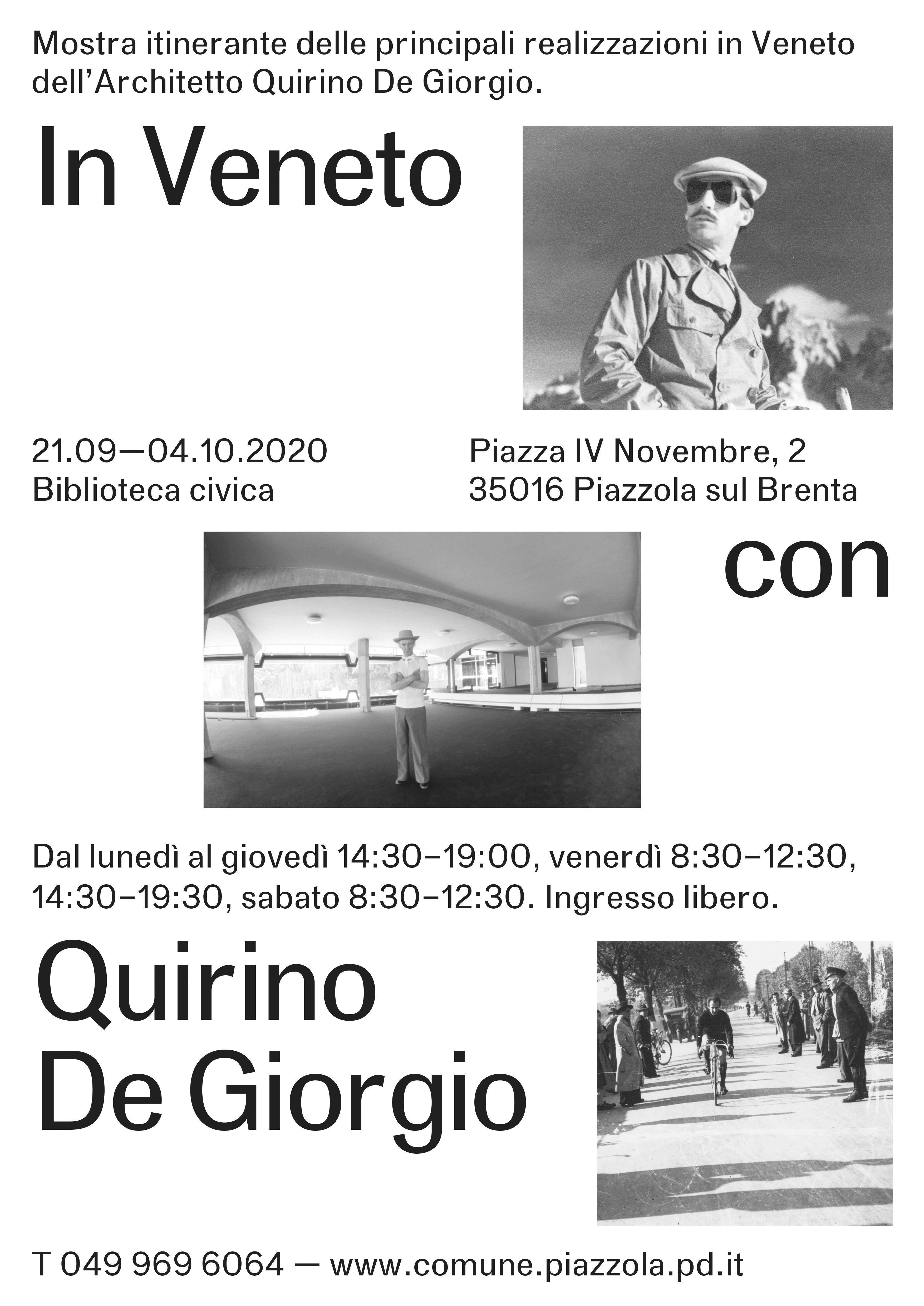 """Mostra itinerante """"In Veneto con Quirino De Giorgio"""""""